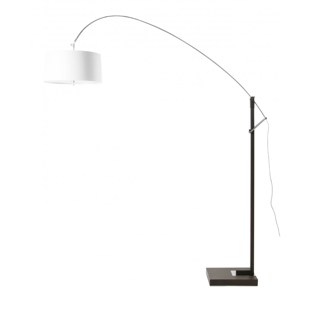 Extenso beautiful contemporary brushed steel white shade for White floor lamp with dimmer