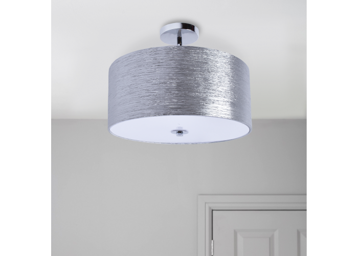 Providence semi flush mount silver minimalist ceiling drum light aloadofball